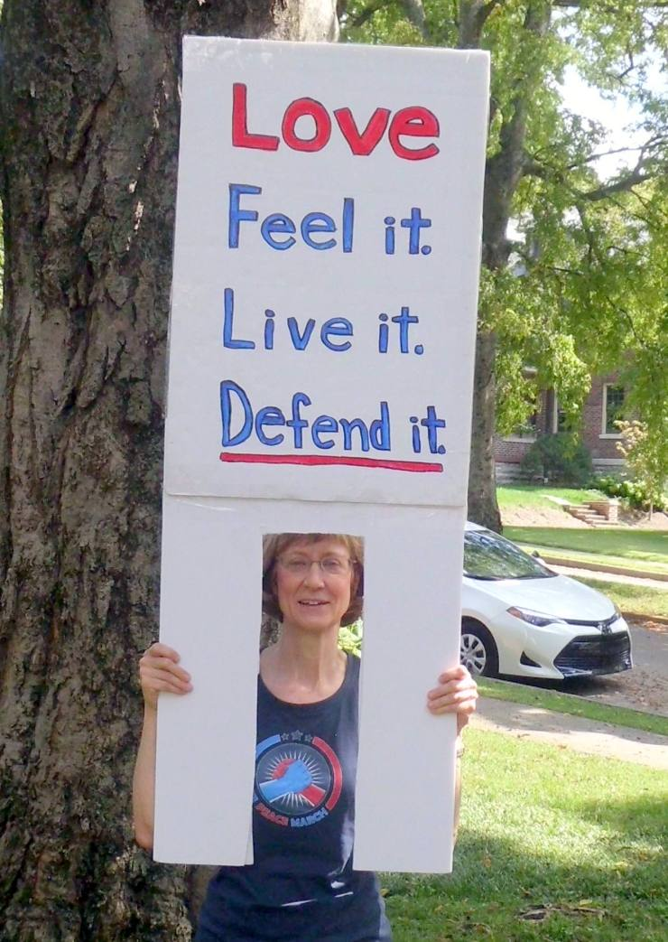 march for civility joanne ball sign 2017