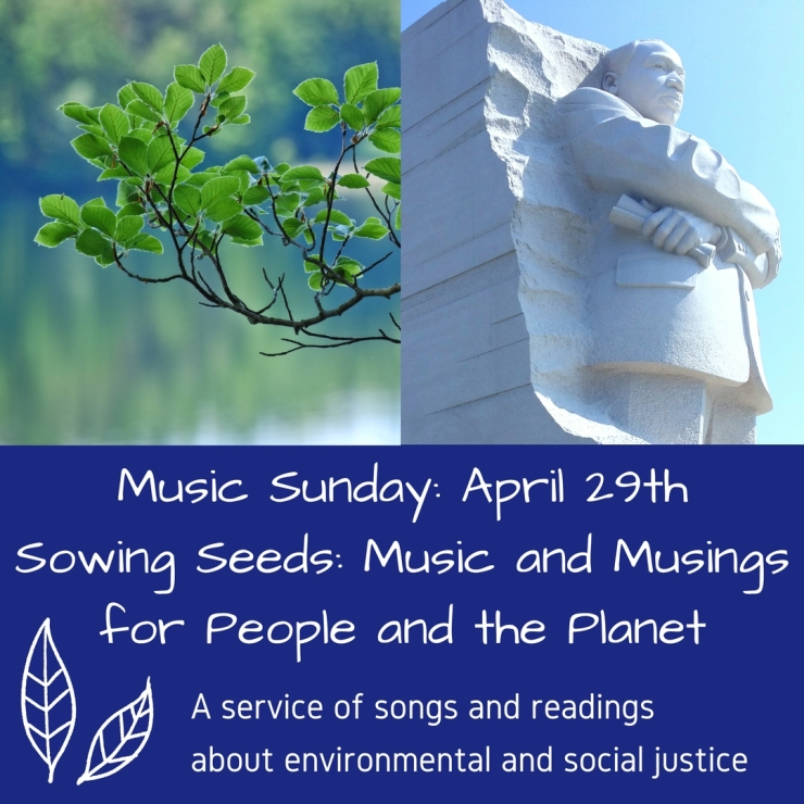 Music Sunday_ April 29th Sowing Seeds_ Music and Musings for People and the Planet