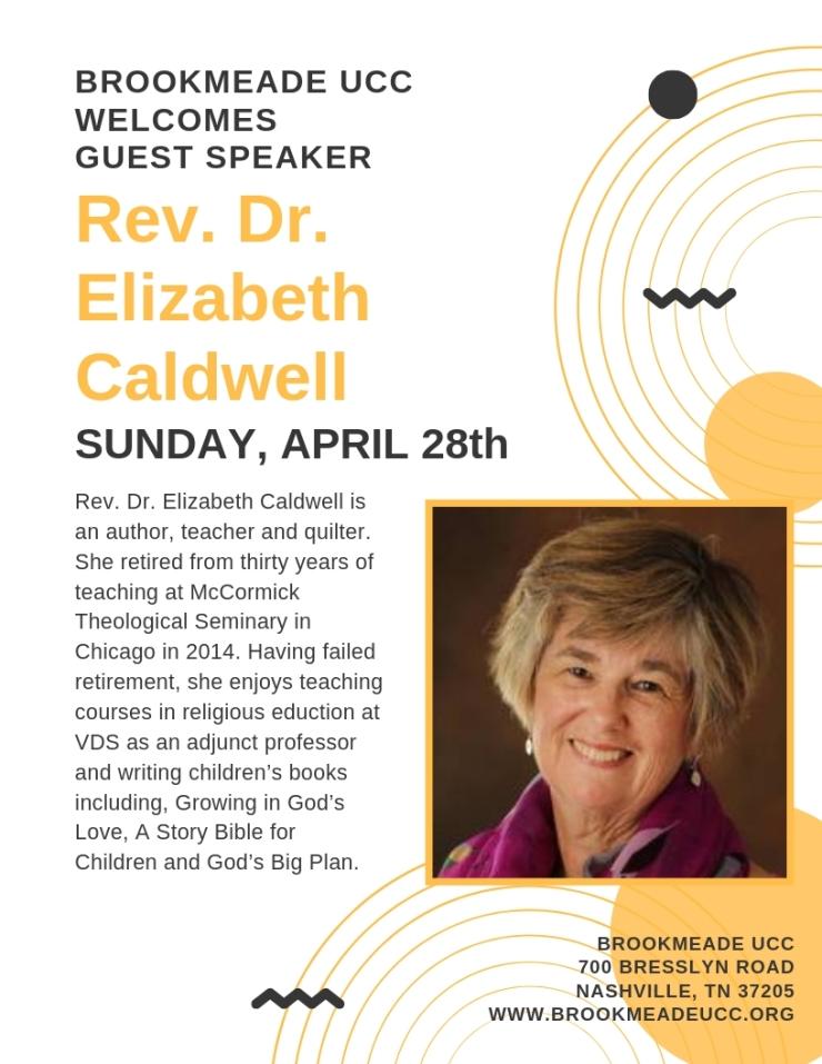 elizabeth caldwell flyer april 28